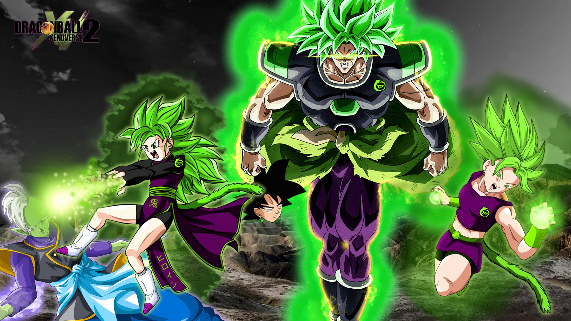 Super Saiyan Green Power Hd Wallpaper Background Image 1920x1080