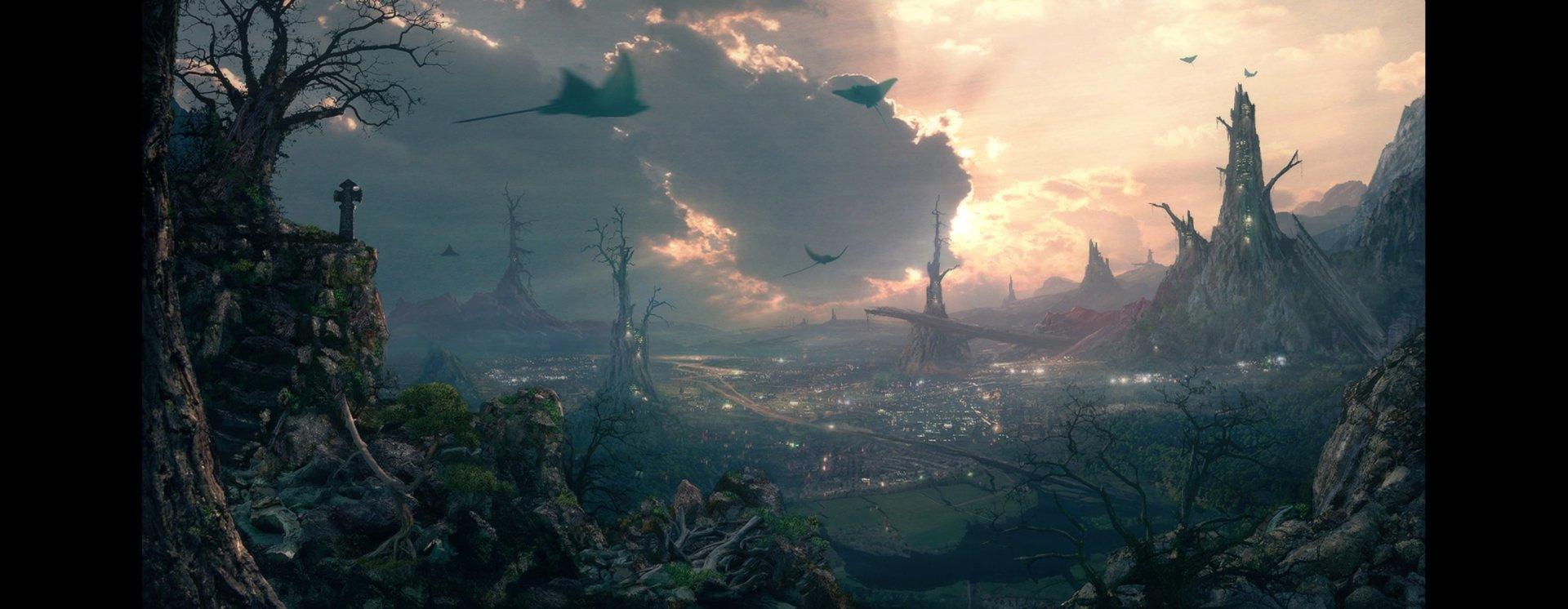 Fantasy - City  Fantasy Landscape Wallpaper