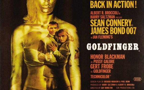 Movie Goldfinger Sean Connery James Bond Honor Blackman Pussy Galore HD Wallpaper | Background Image