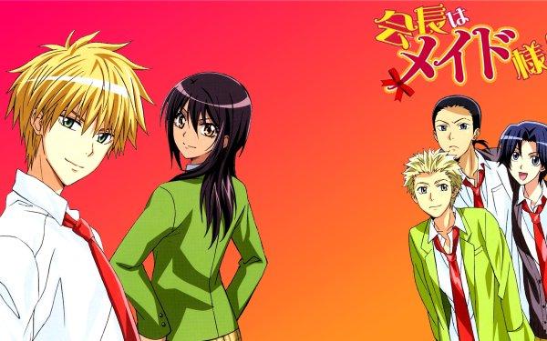 Anime Maid Sama! Takumi Usui Misaki Ayuzawa Ikuto Sarashina Ryûnosuke Kurosaki Naoya Shirokawa HD Wallpaper | Background Image