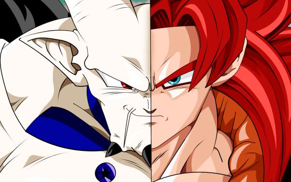 Anime Dragon Ball GT Dragon Ball Gogeta Super Saiyan 4 Omega Shenron HD Wallpaper | Background Image