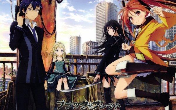 Anime Black Bullet Rentaro Satomi Tina Sprout Enju Aihara Kisara Tendo Blonde Black Hair Orange Hair Blue Eyes Dress HD Wallpaper | Background Image