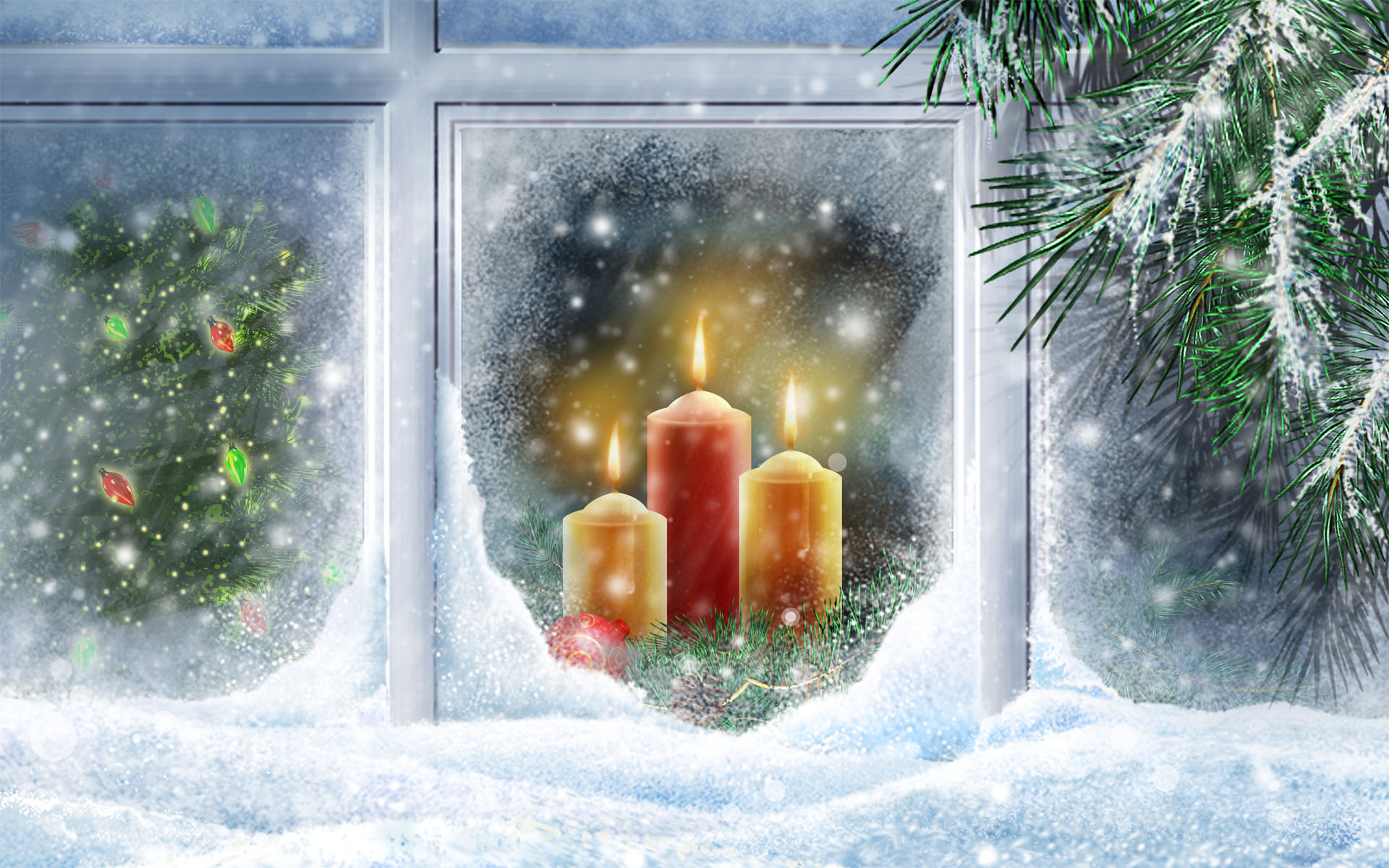 Holiday - Christmas  Candle Wallpaper
