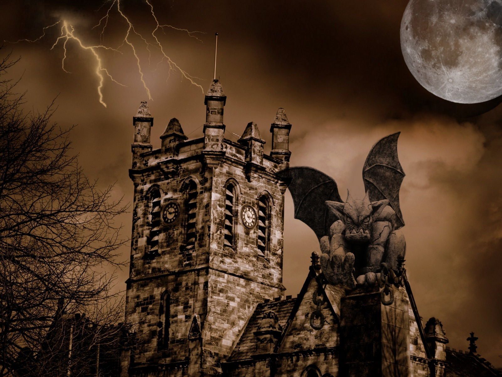 Gargoyle Wallpaper And Background 1600x1200 Id 101666 HD Wallpapers Download Free Images Wallpaper [1000image.com]