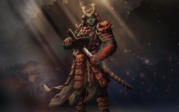 Fantasy Samurai Warrior Orc Armor HD Wallpaper | Background Image