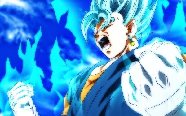 Anime Dragon Ball Super Dragon Ball Vegetto Super Dragon Ball Heroes Super Saiyan Blue HD Wallpaper | Background Image