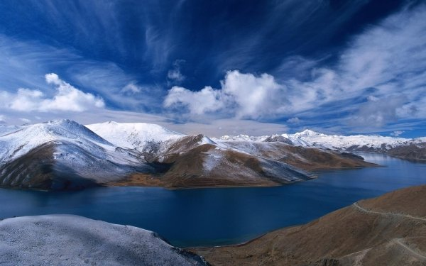 Earth Mountain Mountains Landscape Snow Sky Cloud Norway Lake Water HD Wallpaper | Background Image