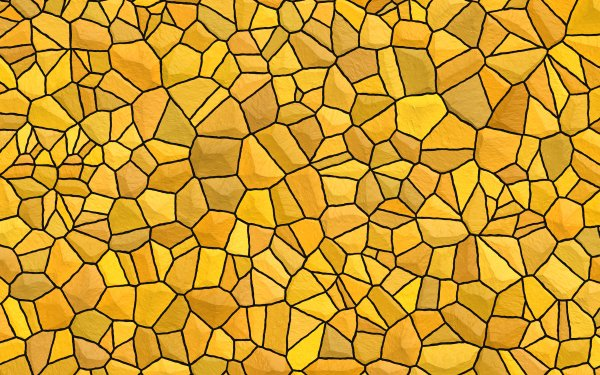 Abstract Yellow Texture Pattern Stone Mosaic HD Wallpaper | Background Image