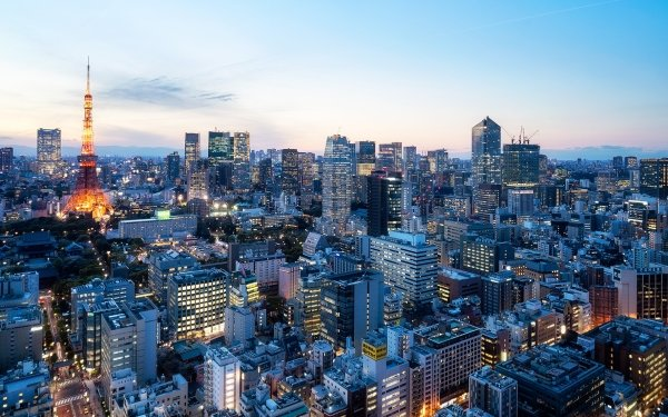 Man Made Tokyo Cities Japan City Cityscape Building Skyscraper Tokyo Tower HD Wallpaper | Background Image