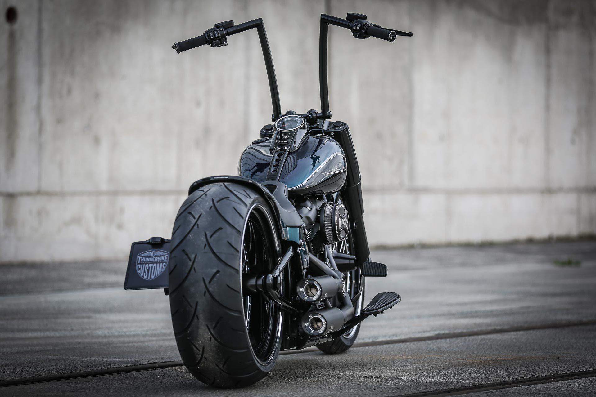 Black Apple customized Thunderbike Harley Davidson Fat Boy ...
