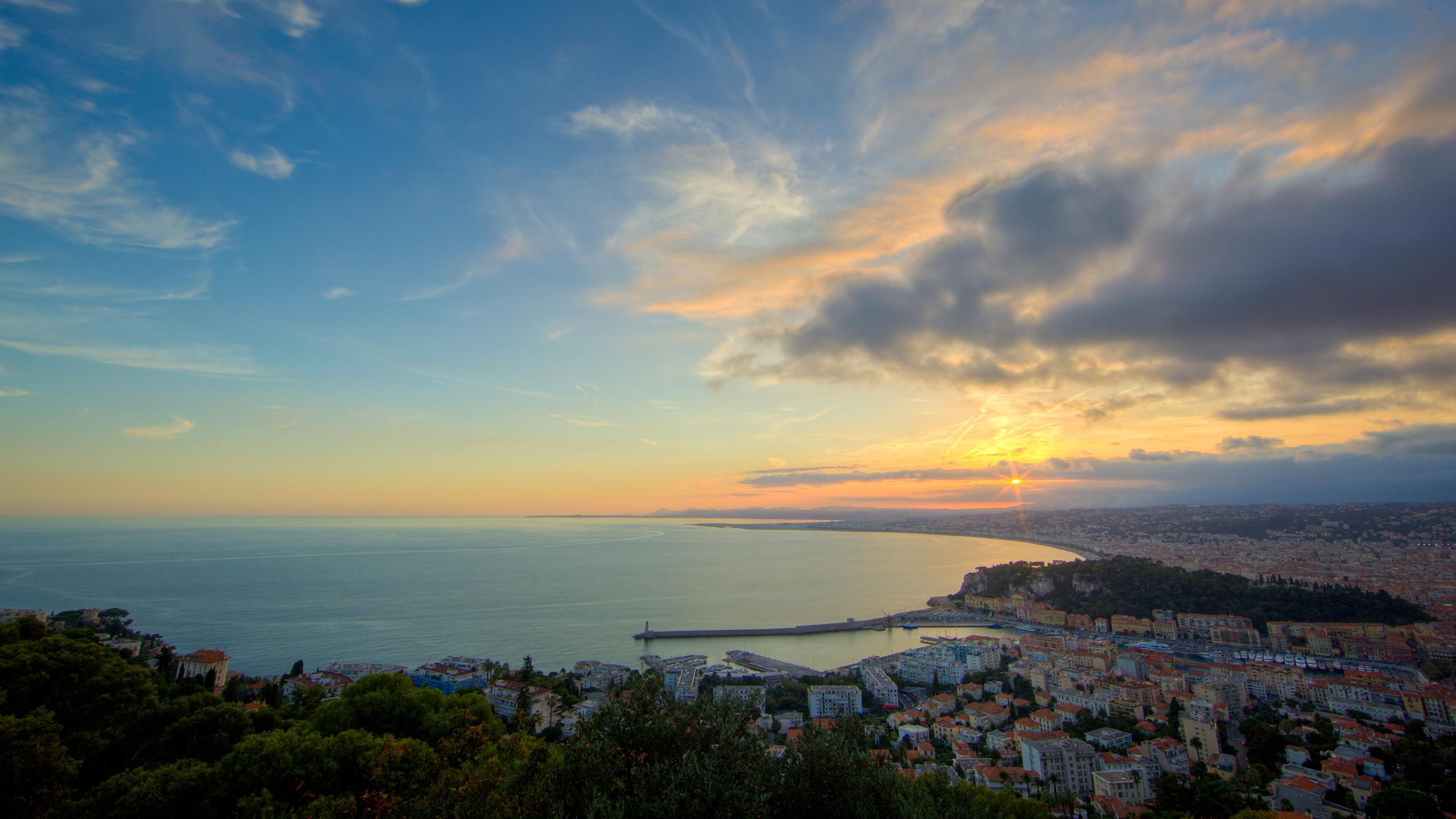 Cote d'Azur coucher de soleil HD Wallpaper | Background Image | 2560x1440 | ID:102148 ...