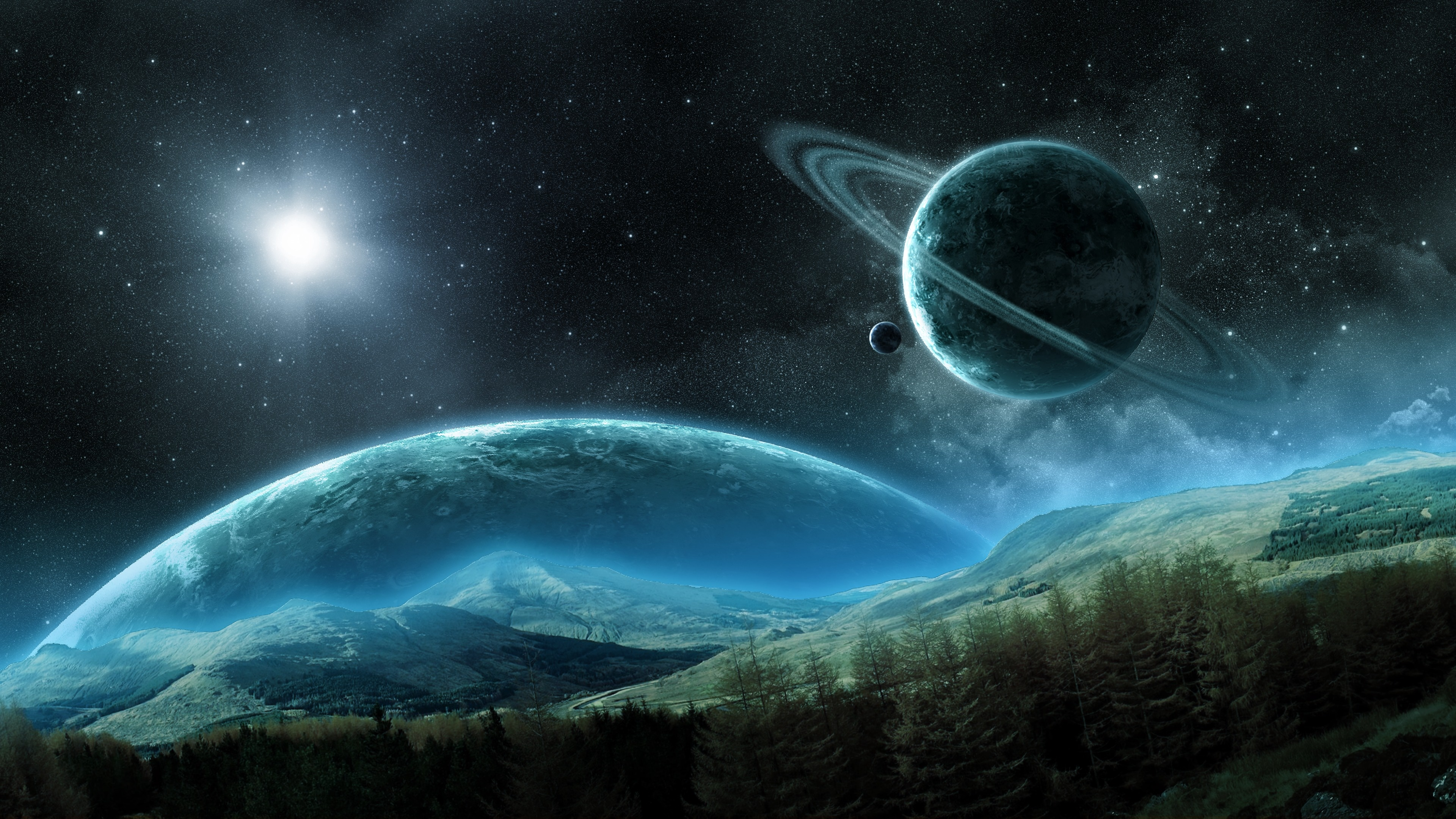 Planets in Outer Space 4k Ultra HD Wallpaper | Background Image | 3840x2160 | ID:1029255 ...