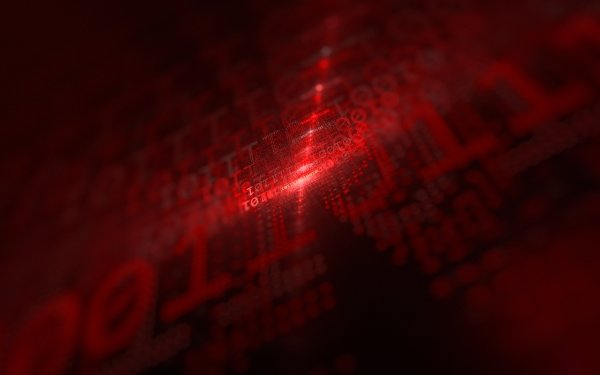 Technology Artistic Code Red Binary HD Wallpaper | Background Image