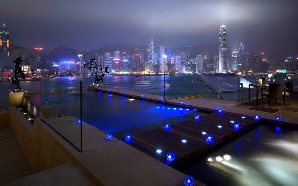 Man Made Hong Kong Cities China HD Wallpaper | Background Image