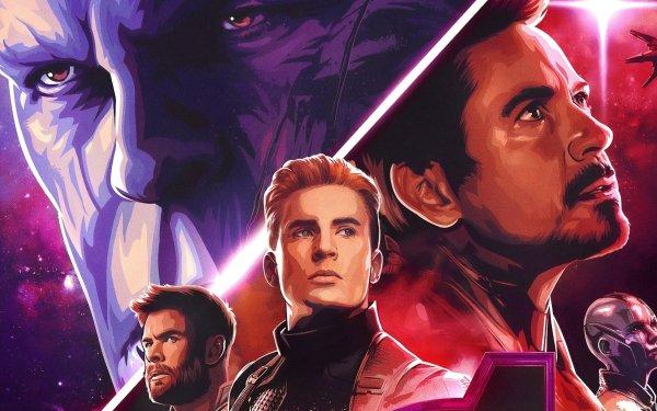 Películas Vengadores: Endgame Los Vengadores Thanos Iron Man Capitan América Thor Nebula Fondo de pantalla HD | Fondo de Escritorio