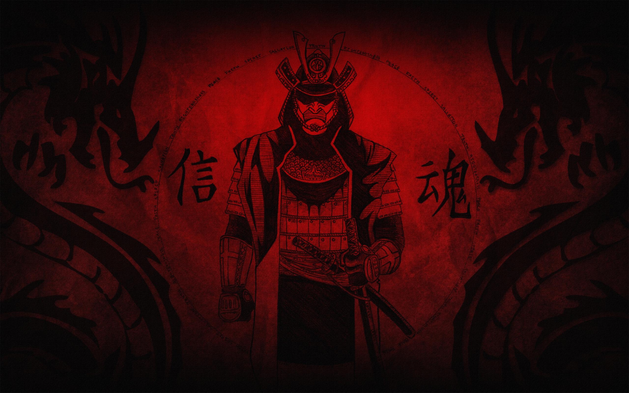 Wallpaper Red 2560x1440 >> Samurai HD Wallpaper | Background Image | 2560x1600 | ID:103606 - Wallpaper Abyss