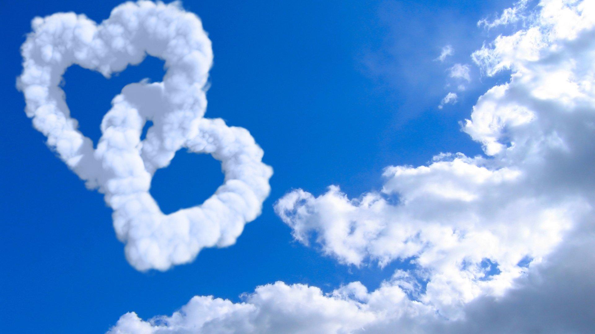 Artistic - Love  Sky Heart Cloud Blue Nature Wallpaper