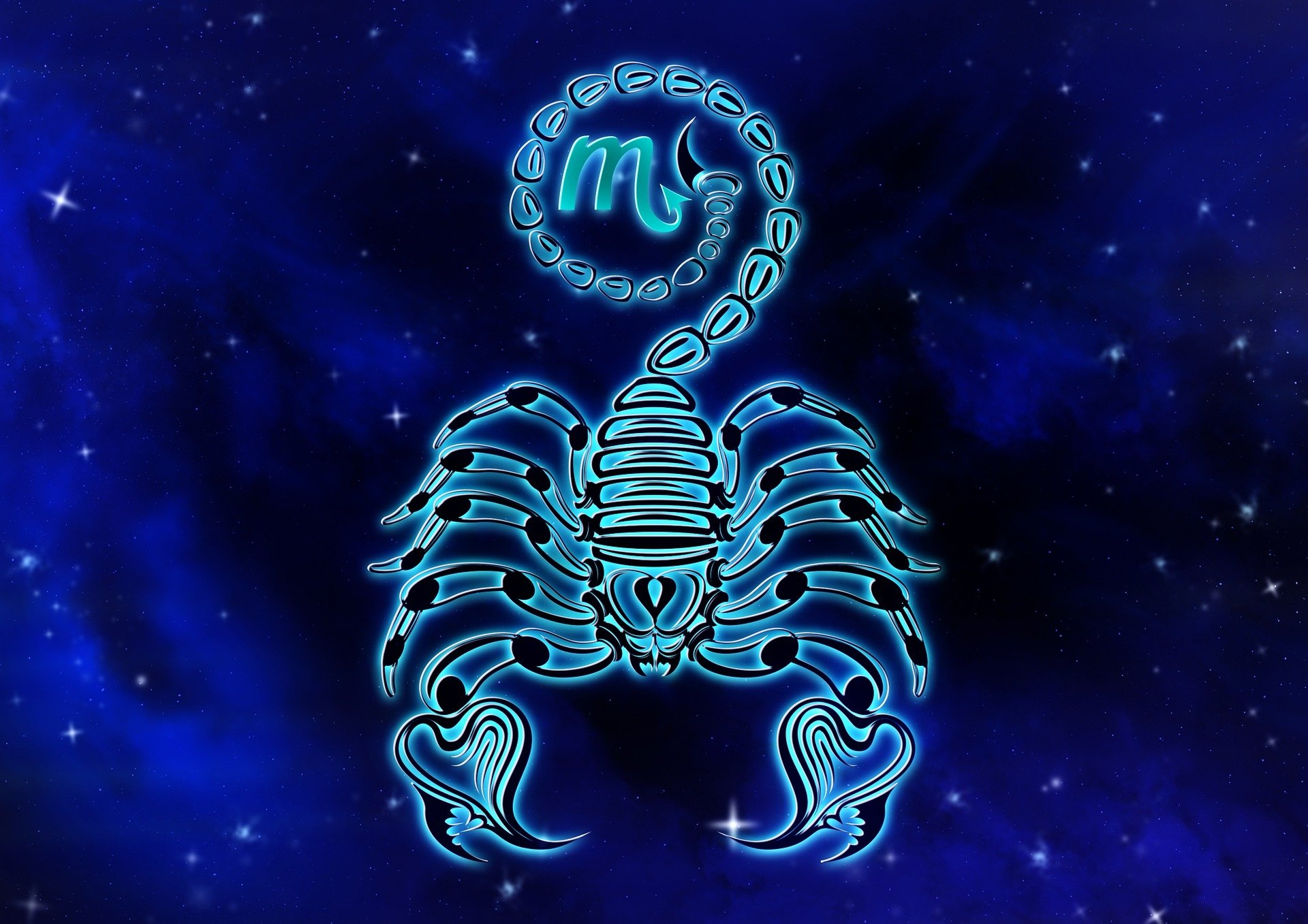 Blue Scorpio the Scorpion HD Wallpaper