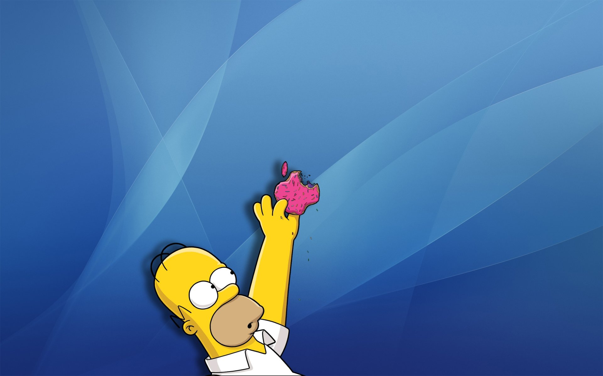Series de Televisión - Los Simpsons  Apple Inc. Homer Simpson Fondo de Pantalla