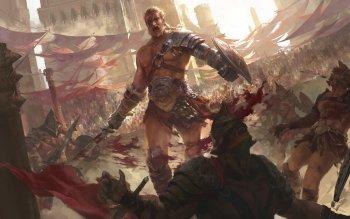 Arena Gladiators Fantasy Art