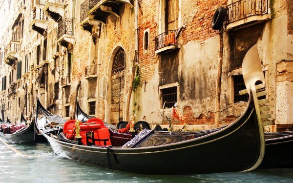 Vehicles Boat Venice Italy Gondola HD Wallpaper | Background Image