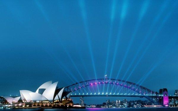 Man Made Sydney Harbour Bridge Bridges Sydney Opera House HD Wallpaper   Background Image