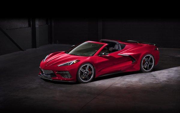 Vehicles Chevrolet Corvette (C8) Chevrolet Corvette Chevrolet Corvette Car Red Car Sport Car HD Wallpaper | Background Image