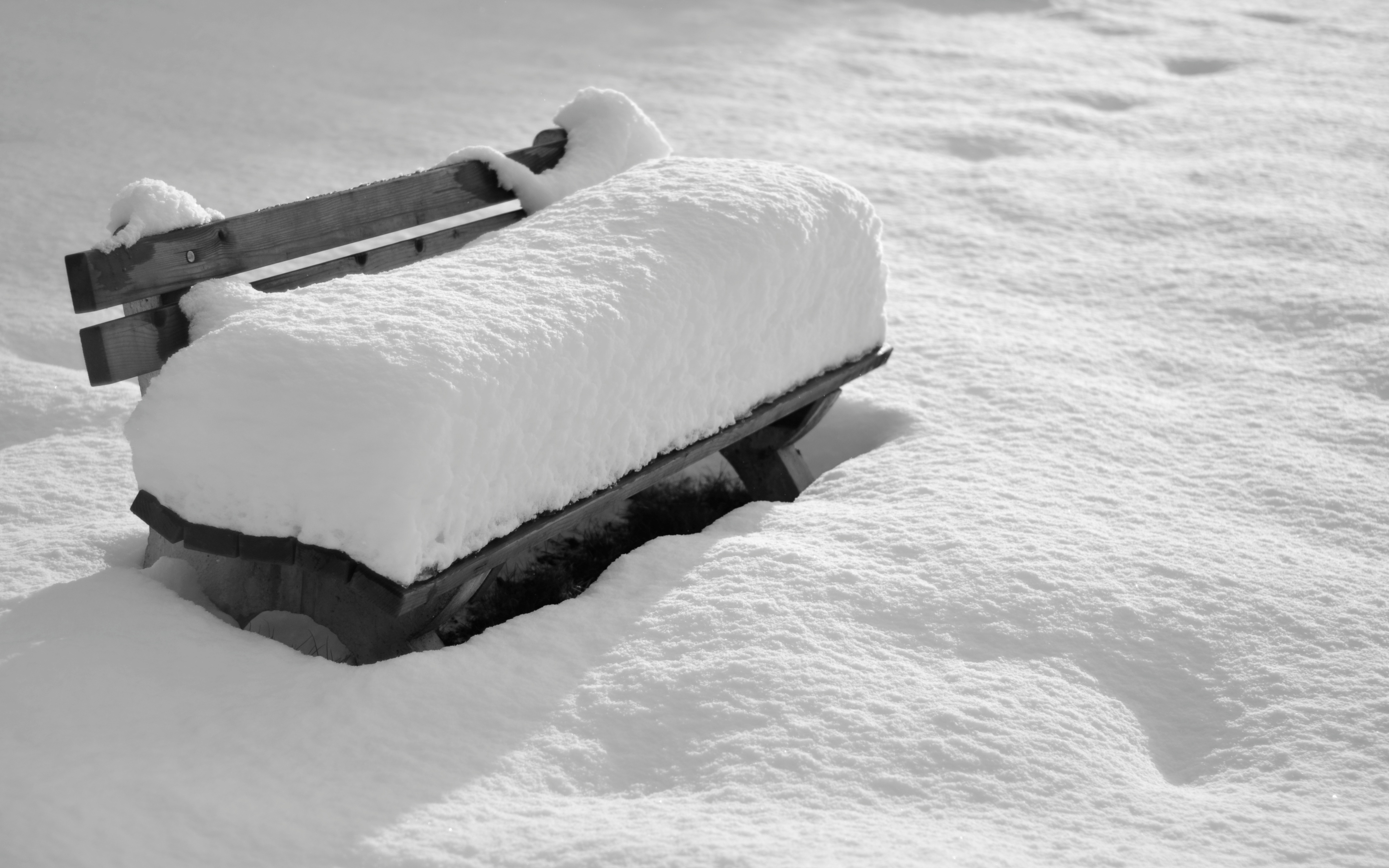 Photography - Winter  Covered Bench Photography Snow Wallpaper