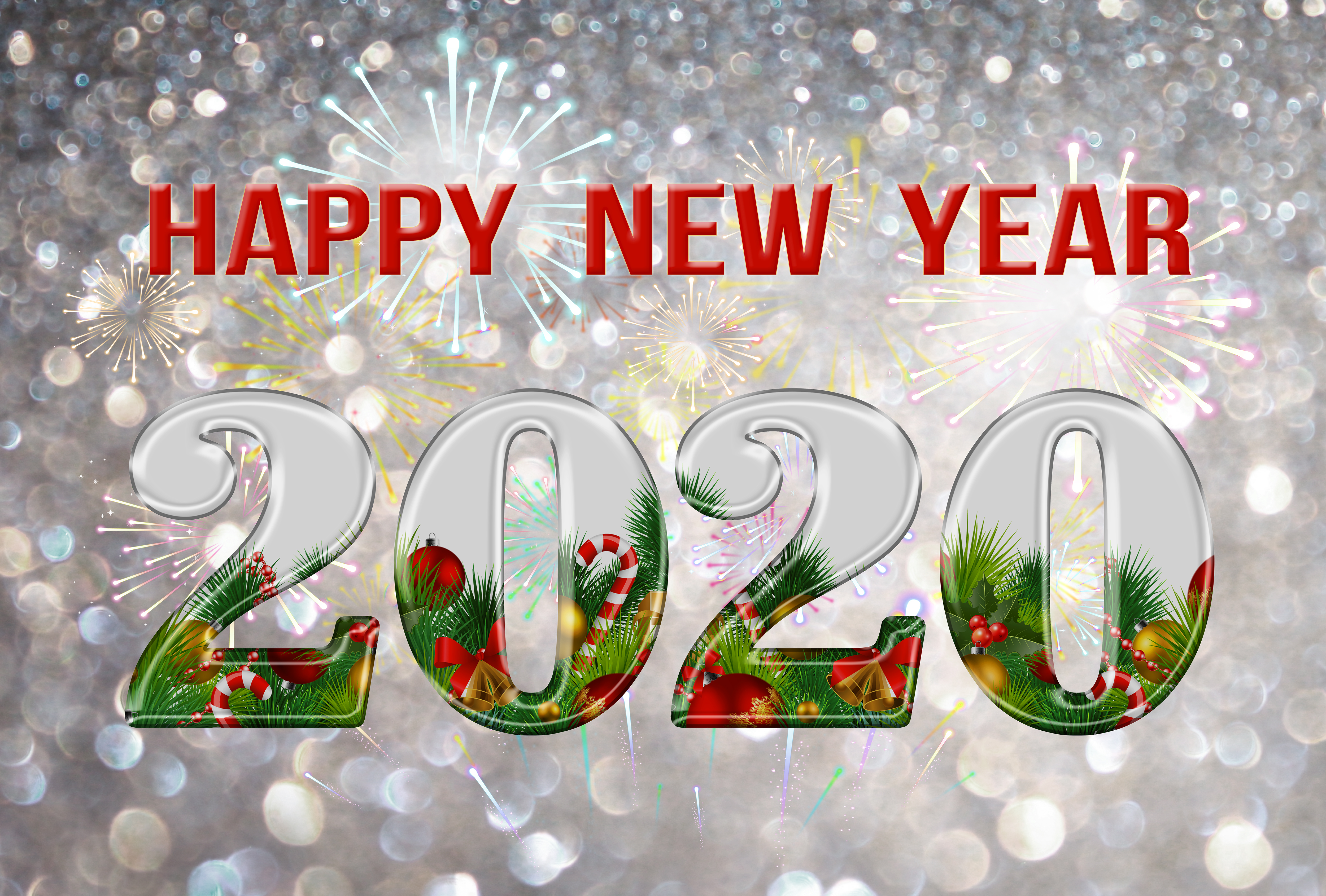 New Year 2020 4k Ultra HD Wallpaper | Background Image ...