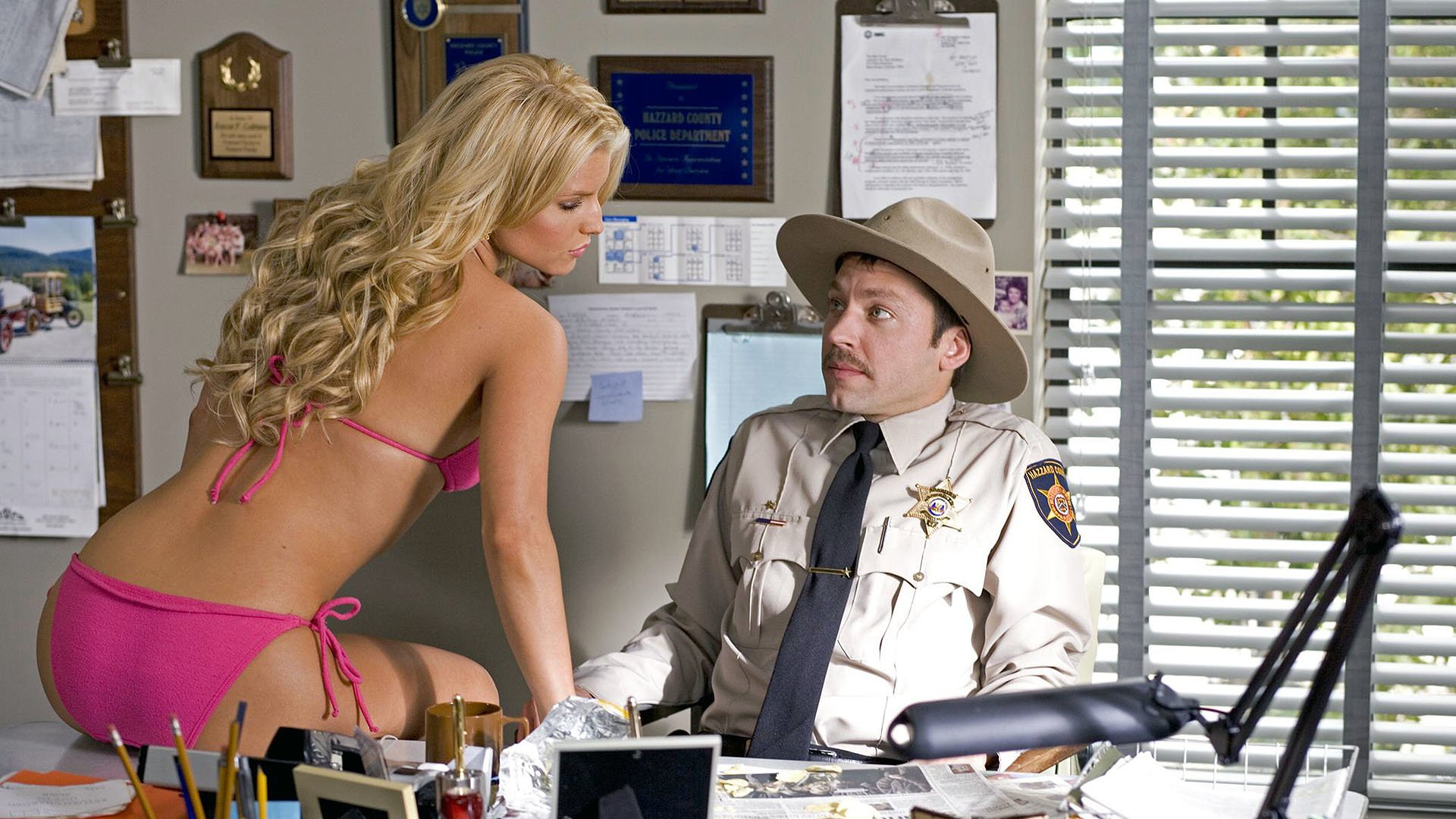 Movie - The Dukes Of Hazzard   Bikini Blonde Jessica Simpson Daisy Duke Michael Weston Wallpaper