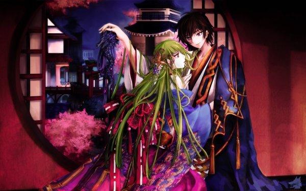 Anime Code Geass Lelouch Lamperouge C.C. Fond d'écran HD | Arrière-Plan