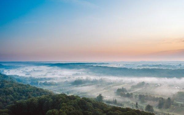 Photography Landscape Lithuania Fog Nature Sky Horizon HD Wallpaper | Background Image