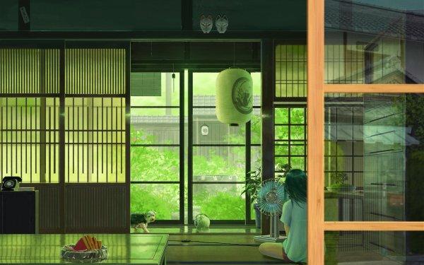 Anime Original Dog Room Mask HD Wallpaper   Background Image