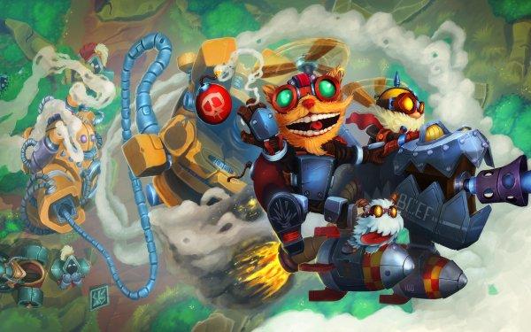 Video Game League Of Legends Blitzcrank Ziggs Corki HD Wallpaper | Background Image