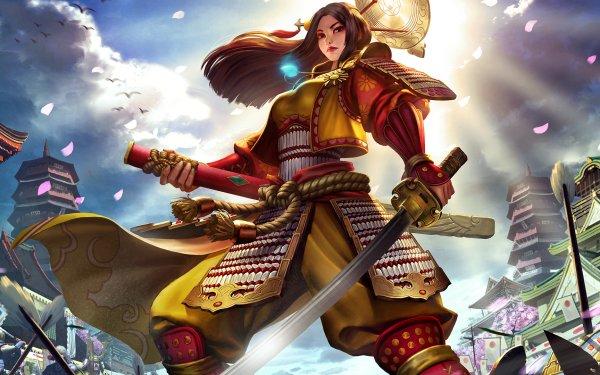 Video Game Smite Amaterasu HD Wallpaper | Background Image