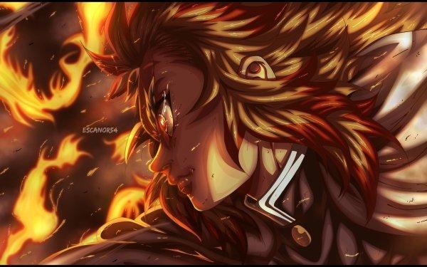 Anime Demon Slayer: Kimetsu no Yaiba Kyojuro Rengoku HD Wallpaper   Background Image