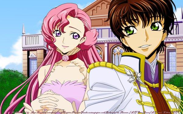 Anime Code Geass Euphemia Li Britannia Suzaku Kururugi HD Wallpaper | Background Image