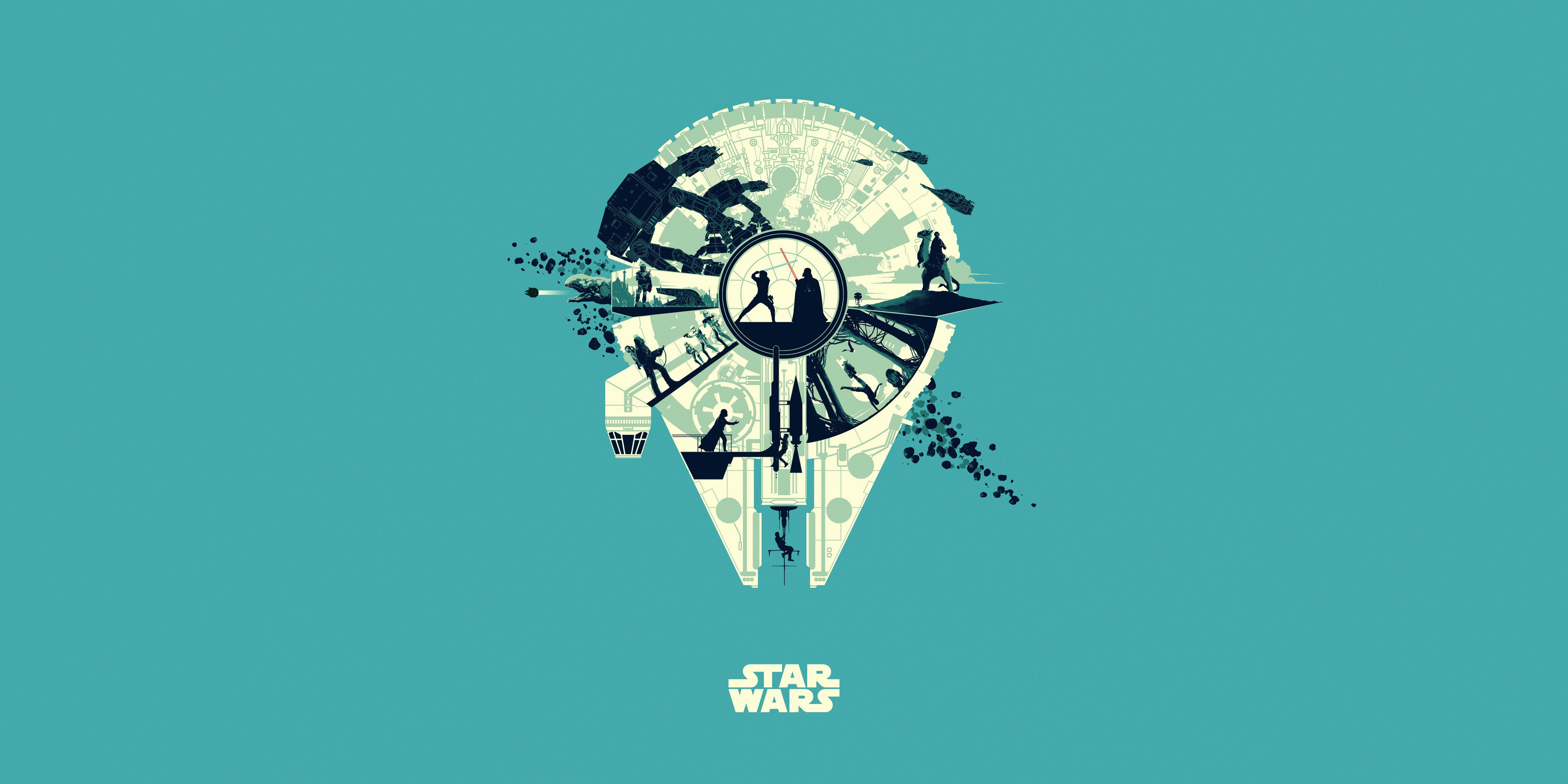 Star Wars 4k Ultra Hd Wallpaper Background Image 5000x2500 Id 1053219 Wallpaper Abyss