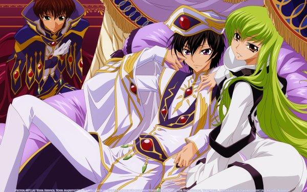 Anime Code Geass C.C. Lelouch Lamperouge Suzaku Kururugi HD Wallpaper | Background Image