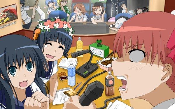 Anime A Certain Scientific Railgun A Certain Magical Index Mikoto Misaka Kuroko Shirai Sisters Ruiko Saten Kazari Uiharu Kaori Kanzaki Kamijou Touma HD Wallpaper | Background Image