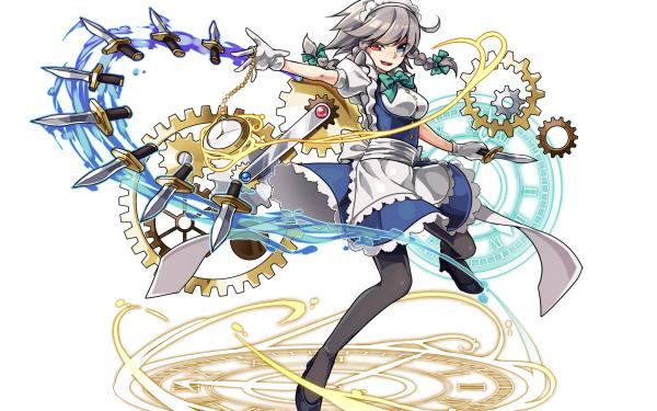 Anime Touhou Sakuya Izayoi Heterochromia HD Wallpaper   Background Image