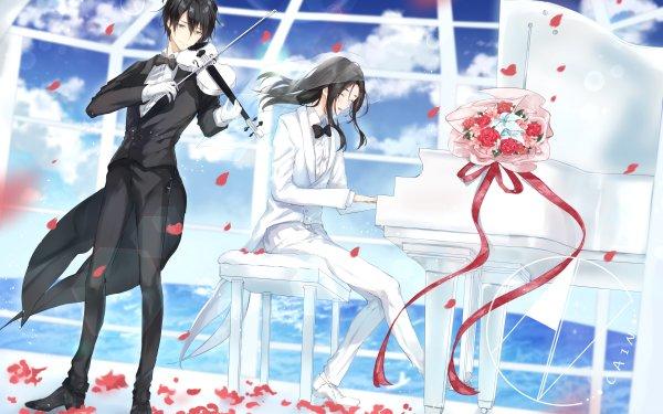 Anime Original Piano Violinist Pianist Violin HD Wallpaper   Background Image
