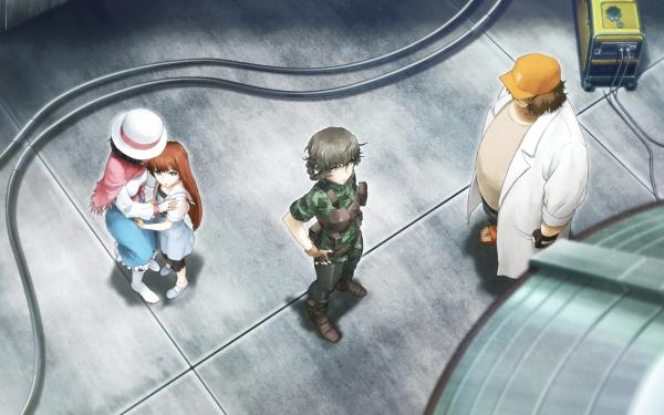 Anime Steins;Gate 0 Mayuri Shiina Kagari Shiina Itaru Hashida Suzuha Amane HD Wallpaper | Background Image
