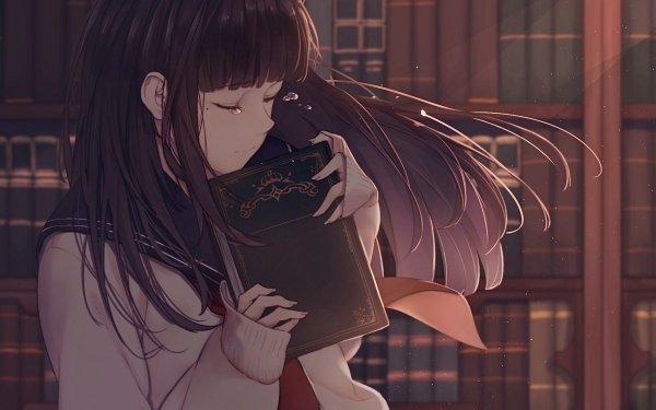 Anime Original Uniform School Uniform Long Hair Tears HD Wallpaper   Background Image