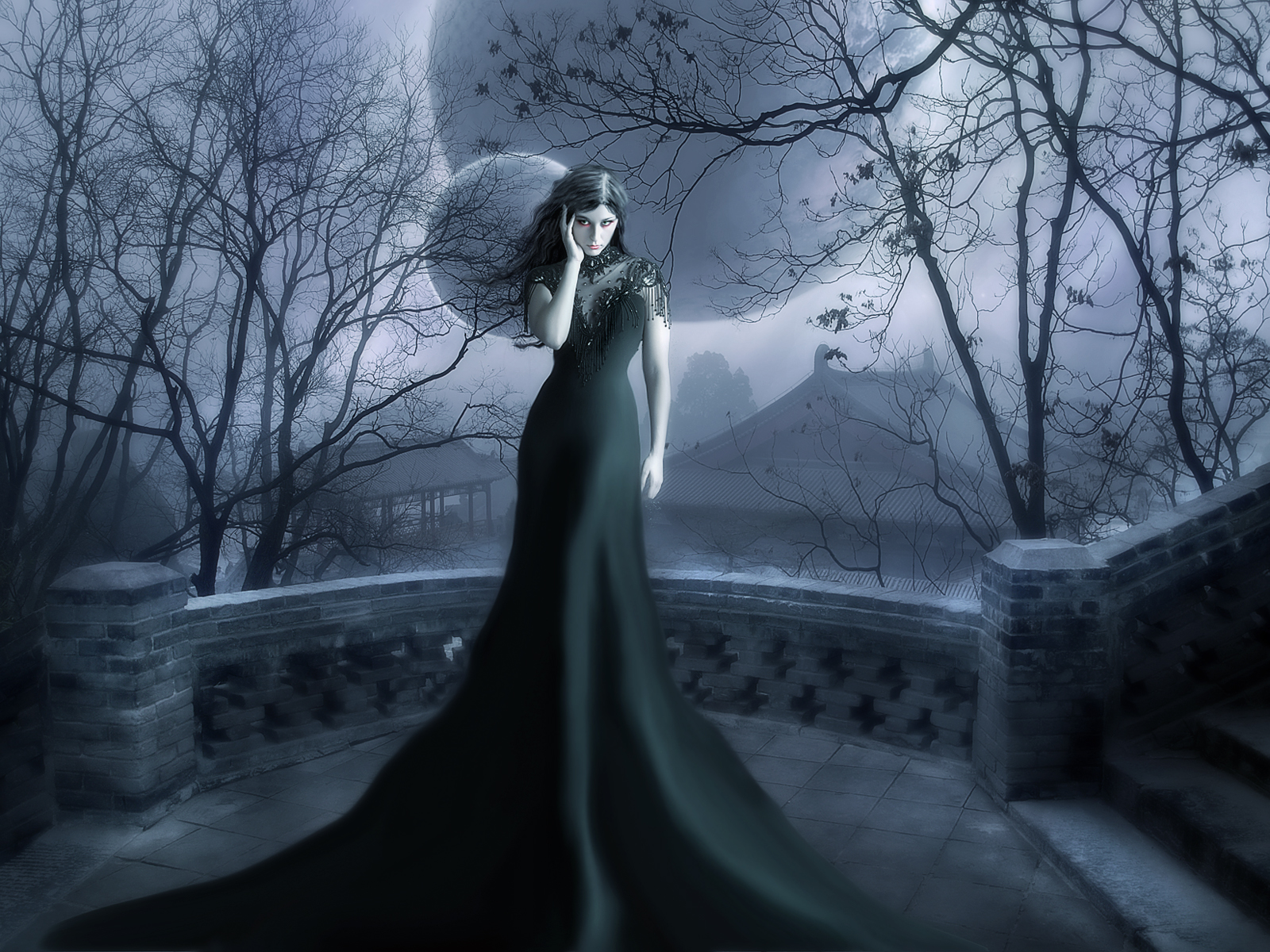 Gothic Vampire Backgrounds Colded Wallpaper and B...