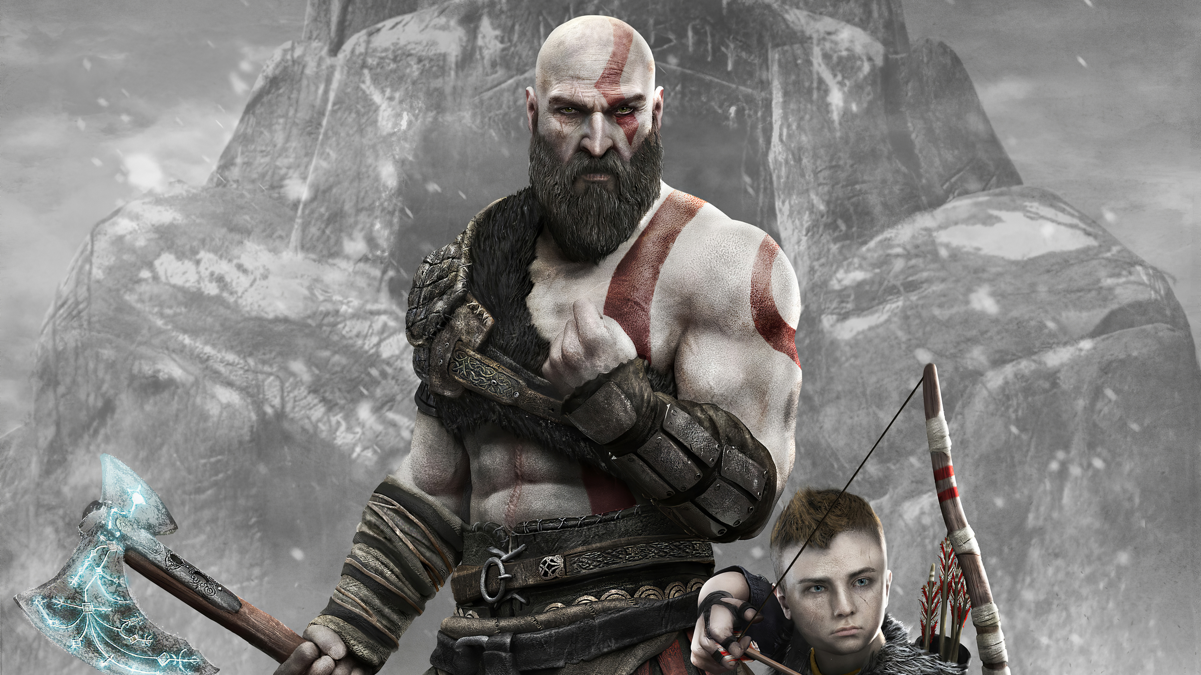 God Of War 2018 4k Ultra Hd Wallpaper Background Image