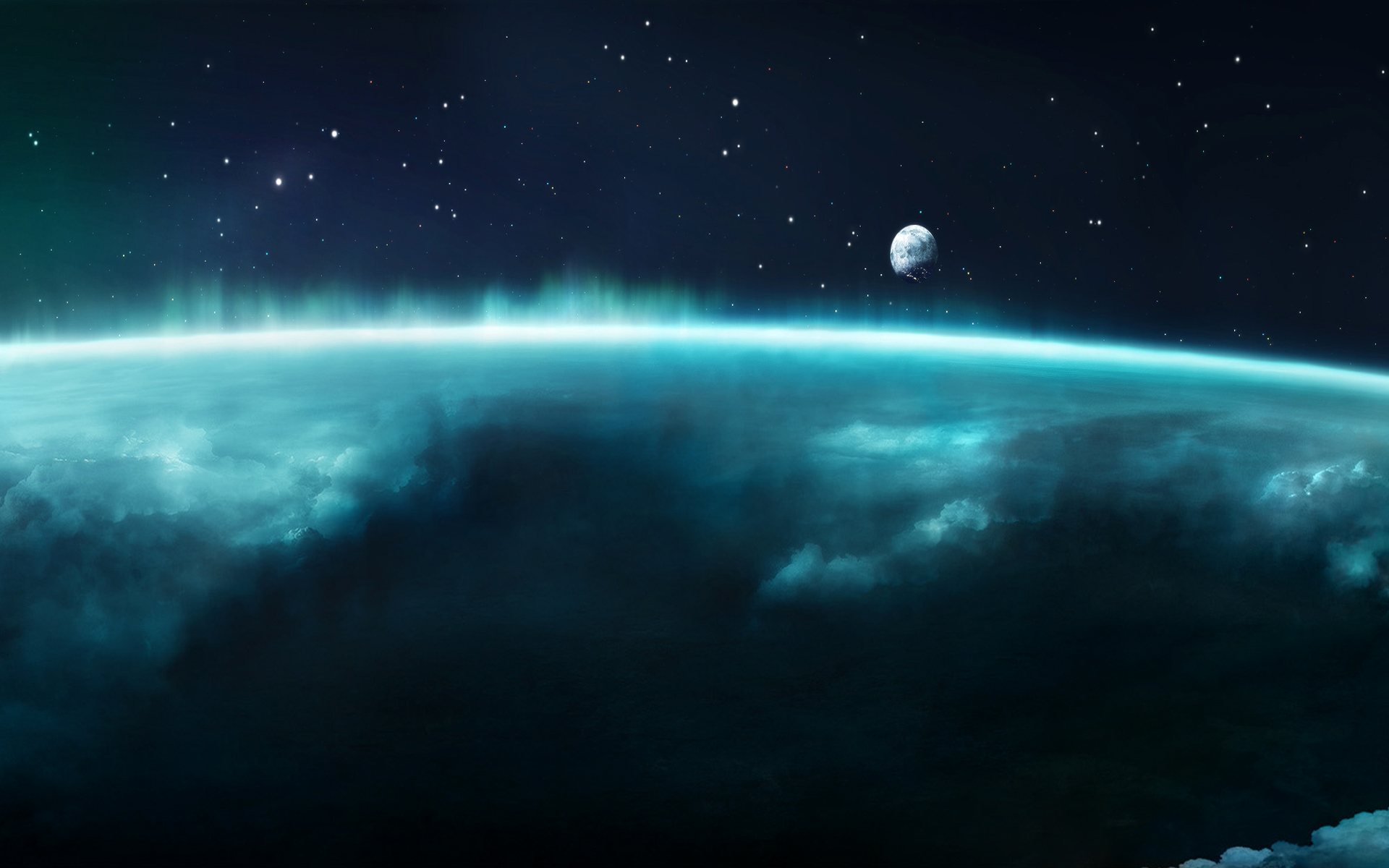 Science-Fiction - Planetscape  Minecraft Wallpaper