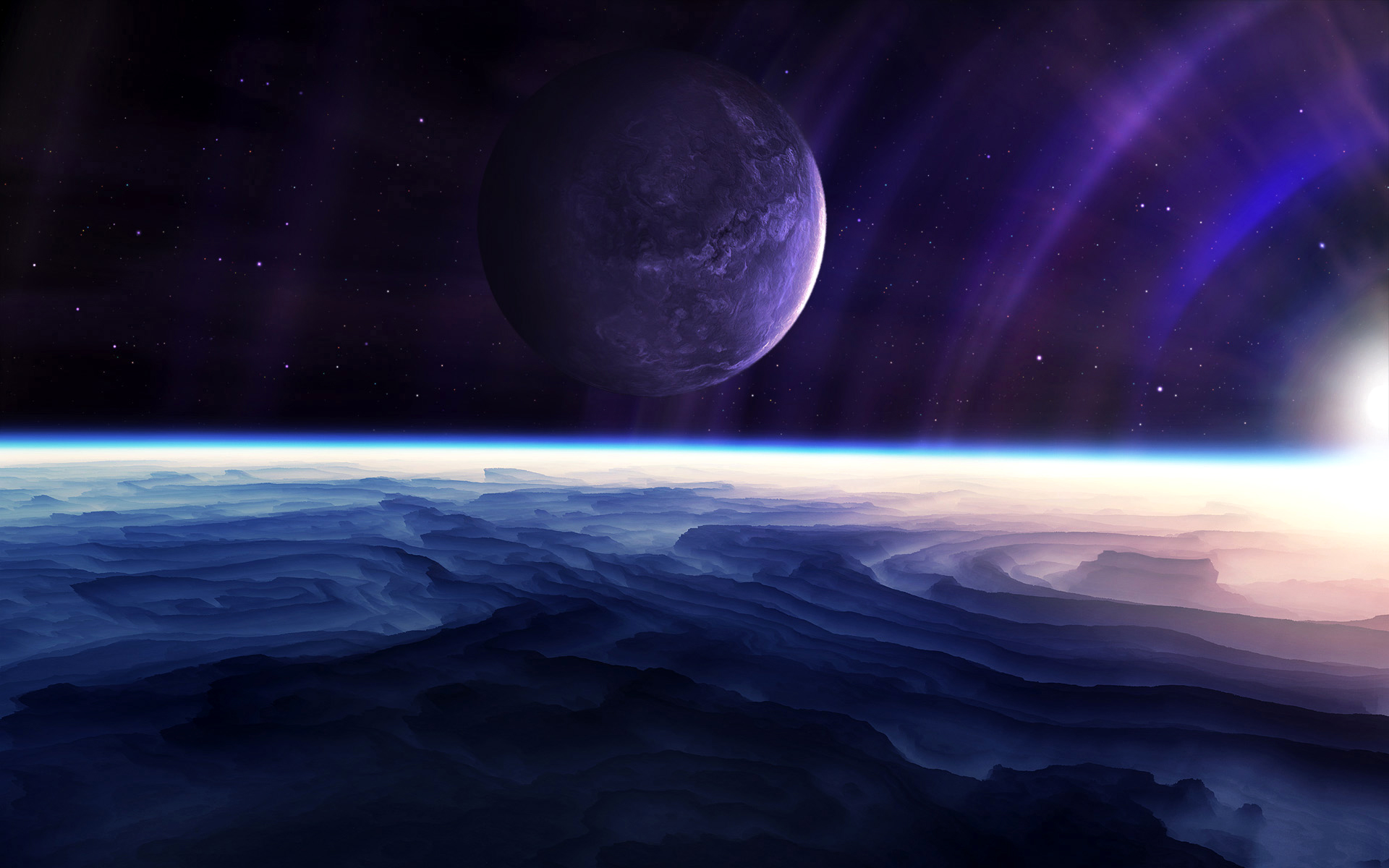 Science-Fiction - Planetscape  Wallpaper