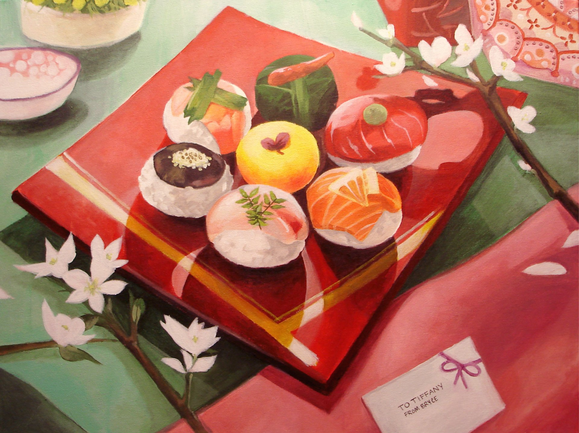 Food - Sushi  Artistic Painting Wallpaper