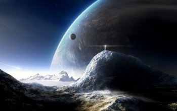 Sciencefiction - Planet Rise Wallpapers and Backgrounds ID : 106846